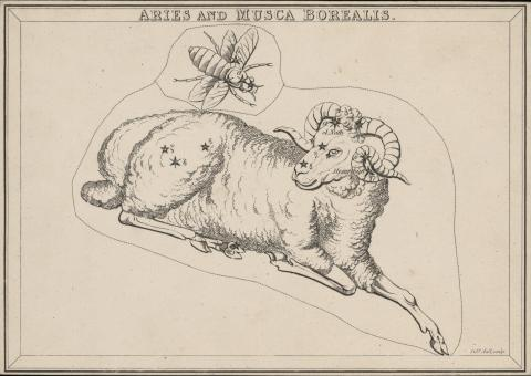 Urania's Mirror (1825) card: Aries